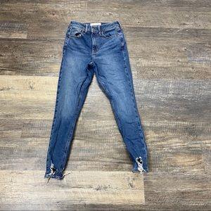 TopShop Jamie Jeans Skinny Leg Raw Hem